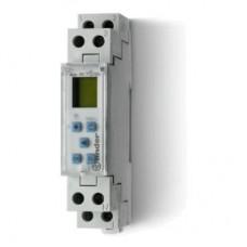 127182300000, Реле времени цифровое недельное; программируется ПК (012.00); монтаж на рейку 35мм; 1СO 16A; питание 230В АC; ширина 17.8мм; степень защиты IP20
