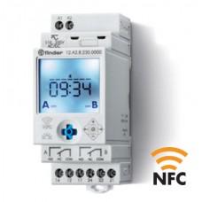12A282300000PAS, Реле времени цифровое недельное ASTRO; монтаж на рейку 35мм; 2СO 16A; питание 110…230B AC/DC; NFC; ширина 35мм; степень защиты IP20; упаковка 1шт.