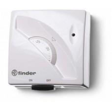 1T011, Комнатный термостат; 1СО 16А; монтаж на стену; поворотная ручка; переключатель ВКЛ/ВЫКЛ; цвет белый