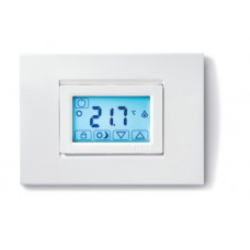 1T5190030000, Комнатный термостат;  сенсорный экран; питание 3В DС; 1СО 5А; монтаж на стену;  цвет белый