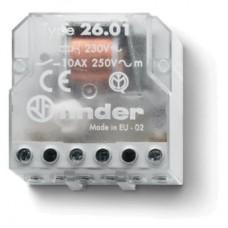 260180240000, Шаговое электромеханическое реле; 1NO 10А, 2 состояния; контакты AgNi; питание 24В АC; монтаж в коробке; степень защиты IP20