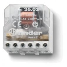 260380240000, Шаговое электромеханическое реле; 1NO+1NC 10А, 2 состояния; контакты AgNi; питание 24В АC; монтаж в коробке; степень защиты IP20