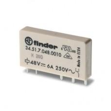 345170050010, Ультратонкое электромеханическое реле; монтаж на печатную плату; 1CO 6A; контакты AgNi; катушка 5В DC (чувствит.); степень защиты RTII