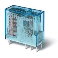Миниатюрное универсальное электромеханическое реле; монтаж на печатную плату или в розетку; выводы с шагом 5мм; 2CO 8A; контакты AgNi; катушка 24В DC (чувствит.); степень защиты RTII; упаковка 50 шт.