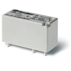 Низкопрофильное миниатюрное электромеханическое реле; монтаж на печатную плату; выводы с шагом 3.5мм; 1CO 12A; Контакты AgNi; катушка 24В AС; степень защиты RTII; упаковка 20 шт.