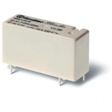Низкопрофильное миниатюрное электромеханическое реле; монтаж на печатную плату; выводы с шагом 3.2мм; 1CO 10A; контакты AgCdO; катушка 3В DС (чувствит.); степень защиты RTII; упаковка 20 шт.