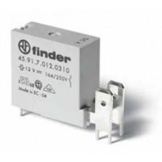 459170120311, Низкопрофильное миниатюрное электромеханическое реле; монтаж на печатную плату; выводы с шагом 5мм + Faston 250(6.3x0.8мм); 1NO 16A; контакты AgNi (зазор ≥ 3мм); катушка 12В DС (чувствит.); степень защиты RTIII