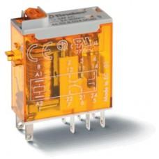 465280120020, Миниатюрное промышленное электромеханическое реле; монтаж в розетку или наконечники Faston (2.5х0.5мм); 2СO 8A; контакты AgNi; катушка 12В АC; влагозащита RTII; опции: мех.индикатор