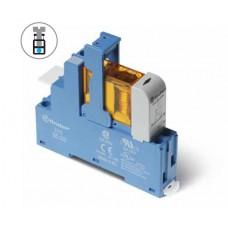 483170120050SMA, Интерфейсный модуль (сборка 40.31.7.012.0000 + 99.02.9.024.99 + 95.03SMA), электромеханическое реле; 1CO 10A; контакты AgNi; питание 12В DC (чувствит.); категория защиты IP20; винтовые клеммы; металлическая клипса; LED + диод