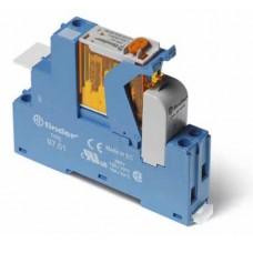 4C0180120060SPA, Интерфейсный модуль (сборка 46.61.8.012.0040 + 99.02.0.024.98 + 97.01SPA), электромеханическое реле; 1CO 16A; контакты AgNi; питание 12В AC; категория защиты IP20; винтовые клеммы; пластиковая клипса; LED + варистор; кнопка тест + мех.индикатор