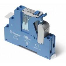 4C0280120060SPA, Интерфейсный модуль (сборка 46.52.8.012.0040 + 99.02.0.024.98 + 97.02SPA), электромеханическое реле; 2CO 8A; контакты AgNi; питание 12В AC; категория защиты IP20; винтовые клеммы; пластиковая клипса; LED + варистор; кнопка тест + мех.индикатор