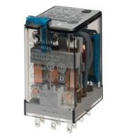 Миниатюрное универсальное электромеханическое реле; монтаж в розетку; 3CO 10A; контакты AgNi; катушка 24В DC; степень защиты RTI; опции: кнопка тест; упаковка 10 шт.
