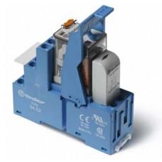 Интерфейсный модуль, электромеханическое реле; 2CO 10A; контакты AgNi; питание 12В AC; категория защиты IP20; винтовые клеммы; металлическая клипса; LED + варистор; упаковка 10 шт.
