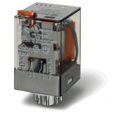 Универсальное электромеханическое реле; монтаж в розетку 8-штырьковый разъем; 2CO 10A; контакты AgNi; токовая катушка AC 0.1A; степень защиты RTI; опции: кнопка тест + мех.индикатор; упаковка 10 шт.