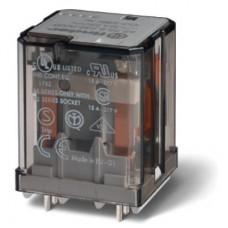 Силовое электромеханическое реле; монтаж на печатную плату; 2CO 16A; контакты AgCdO; катушка 12В АC; степень защиты RTI; опции: нет; упаковка 10 шт.