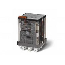 623392200040, Силовое электромеханическое реле; монтаж в розетку или наконечники Faston 187 (4.8х0.5мм); 3CO 16A; контакты AgCdO; катушка 220В DC; степень защиты RTI; опции: кнопка тест + мех.индикатор