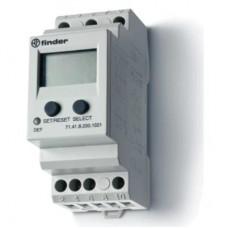 714182301021, Универсальное контрольное реле напряжения для 1-фазных сетей AC/DC; пониженное/повышенное напряжение; настраиваемые параметры; память отказов; выход 1CO 10А; модульное, ширина 35мм; степень защиты IP20