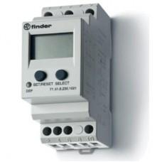715182301021, Универсальное контрольное реле тока для 1-фазных сетей AC/DC; пониженый/повышенный ток; прямое подключение или через трансформатор тока; настраиваемые параметры; память отказов; выход 1CO 10А; модульное, ширина 35мм; степень защиты IP20