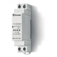 Модульное твердотельное реле; выход 5А (60…240В АС); питание 12…24В DC, 24В AC; Функция 'Включ.при пересечении нуля'; ширина 17.5мм; степень защиты IP20; упаковка 5 шт.