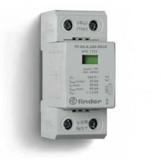 7P0182601025, Устройство защиты от импульсных перенапряжений УЗИП тип 1+2 (1 варистор/искровый разрядник); модульный, ширина 36мм; степень защиты IP20