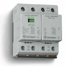 7P0282601025, Устройство защиты от импульсных перенапряжений УЗИП тип 1+2 (1 варистор/искровый разрядник + 1 искровый разрядник); модульный, ширина 72мм; степень защиты IP20