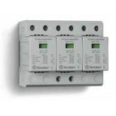 7P0382601025, Устройство защиты от импульсных перенапряжений УЗИП тип 1+2 (3 варистор/искровый разрядник); модульный, ширина 108мм; степень защиты IP20