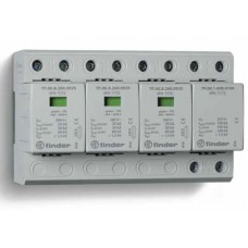 7P0482601025, Устройство защиты от импульсных перенапряжений УЗИП тип 1+2 (3 варистор/искровый разрядник + 1 искровый разрядник); модульный, ширина 144мм; степень защиты IP20