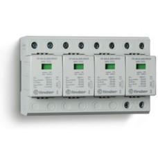7P0582601025, Устройство защиты от импульсных перенапряжений УЗИП тип 1+2 (4 варистор/искровый разрядник); модульный, ширина 144мм; степень защиты IP20