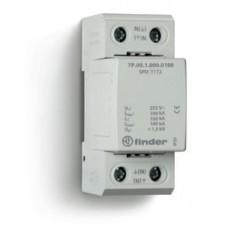 7P0912550100, Устройство защиты от импульсных перенапряжений УЗИП тип 1 (искровый разрядник); модульный, ширина 36мм; степень защиты IP20