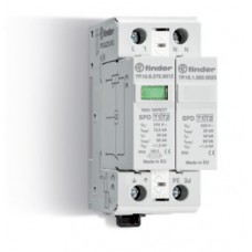 7P1282751012, Устройство защиты от импульсных перенапряжений УЗИП тип 1 (1 варистор + 1 искровый разрядник); модульный, ширина 35мм; степень защиты IP20