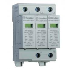 Устройство защиты от импульсных перенапряжений УЗИП тип 1 (3 варистора); модульный, ширина 52.5мм; степень защиты IP20; упаковка 1 шт.