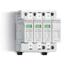 7P1482751012, Устройство защиты от импульсных перенапряжений УЗИП тип 1 (3 варистора + 1 искровый разрядник); модульный, ширина 70мм; степень защиты IP20