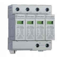 7P1582751012, Устройство защиты от импульсных перенапряжений УЗИП тип 1 (4 варистора); модульный, ширина 70мм; степень защиты IP20