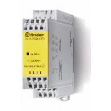 7S1490120220, Модульное электромеханическое реле безопасности (реле с принудительным управлением контактами); 2NO+2NC 6A; контакты AgNi; катушка 12В DC; ширина 22.5мм; степень защиты IP54