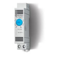 7T8100002301, Щитовой термостат для включения охлаждения; диапазон температур -20…+40°C; 1NO 10A; модульный, ширина 17.5мм; степень защиты IP20