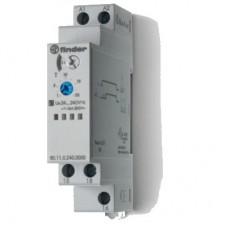 801102400000, Модульный таймер 1-функциональный (AI); питание 24…240В АС/DC; 1CO 16A; ширина 17.5мм; регулировка времени 0.1с…24ч; степень защиты IP20