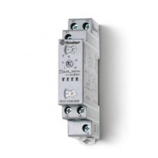 805102400000PAS, Модульный таймер мультифункциональный (AI, DI, SW, BE, CE, DE); питание 24…240В АС/DC; 1CO 8A; ширина 17.5мм; регулировка времени 0.1с…24ч; степень защиты IP20;  упаковка 1шт.