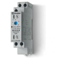 807102400000, Модульный таймер мультифункциональный (AI, DI, SW, BE, CE, DE); питание 24…240В АС/DC; выход - твердотельное реле 1NO 1A; ширина 17.5мм; регулировка времени 0.1с…24ч; степень защиты IP20