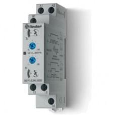 809102400000, Модульный таймер 2-функциональный (LI, LE); питание 24…240В АС/DC; 1CO 16A; ширина 17.5мм; регулировка времени 0.1с…24ч; степень защиты IP20