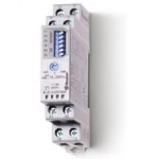 810102300000T, Модульный таймер мультифункциональный (AI, DI, SW, SP, BE, DE, EEb), функции SET, RESET; питание 12…240В АС/DC; 1CO 16A; ширина 17.5мм; регулировка времени 0.1с…10ч; степень защиты IP20; версия для ЖД-транспорта