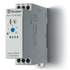 Модульный таймер 1-функциональный (BE); питание 24…240В АС-DC; 1CO 16A; ширина 22.5мм; регулировка времени 0.05с…10дней; степень защиты IP20; упаковка 5 шт.