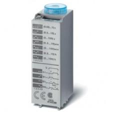 850200120000, Миниатюрный мультифункциональный таймер (AI, DI, SW, GI); монтаж в розетку; питание 12В АС/DC; 2CO 10A; регулировка времени 0.05с…100ч; степень защиты IP40; в комплекте металлическая клипса 094.81