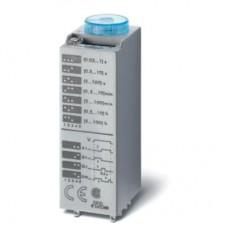 850300120000, Миниатюрный мультифункциональный таймер (AI, DI, SW, GI); монтаж в розетку; питание 12В АС/DC; 3CO 10A; регулировка времени 0.05с…100ч; степень защиты IP40; в комплекте металлическая клипса 094.81