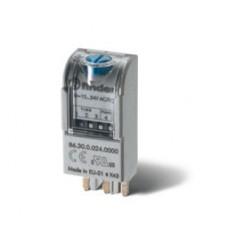 863000240000, Таймерный модуль 2-функциональный (AI,DI); для применения с реле, монтаж в розетку; питание 12...24В AC/DC; регулировка времени 0.05с...100ч; степень защиты IP20