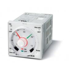 Таймер 1-функциональный (PI); монтаж на панель или в розетку; 8-штырьковый разъем; питание 12…240В АС-DC; 2CO 5A; регулировка времени 0.05с…100ч; степень защиты IP40; упаковка 5 шт.