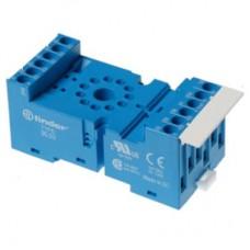 9003SMA, Розетка с винтовыми клеммами (с зажимной клетью) для реле 60.13, таймера 88.02; применяются модули 86.00, 86.30, 99.02; в комплекте металлическая клипса 090.33; версия: синий цвет
