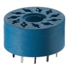 90141, Розетка для монтажа на плате для реле 60.12, таймера 88.12; диаметр 17.5мм