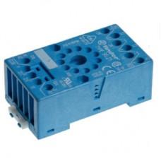 9020SMA, Розетка с винтовыми клеммами (с зажимной клетью) для реле 60.12, таймера 88.12; применяются модули 99.01; в комплекте металлическая клипса 090.33; версия: синий цвет