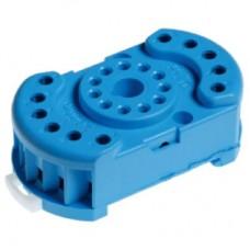 9022SMA, Розетка с винтовыми клеммами (с зажимной клетью) для реле 60.12, таймера 88.12; в комплекте металлическая клипса 090.33; версия: синий цвет