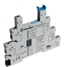 93210024, Розетка с винтовыми клеммами (с зажимной клетью) для реле 34 серии; встроенный таймер мультифункциональный (AI, DI, GI, SW); регулировка времени 0.1с…6ч; питание 24В АС/DC; в комплекте пластиковая клипса; опции: LED